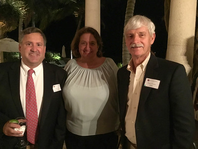 Anthony Tattersfield '81, Cathy Tattersfield, and Peter Evans P'98
