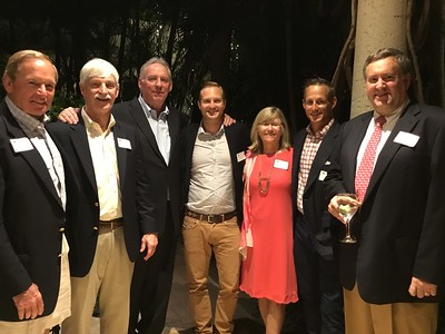 Skip Flanagan GP'16,'19, Peter Evans P'98, Kevin Driscoll '72, P'08, Kendall Cheatham '96, Sue Evans P'98, Riordan Cheatham '93, and Anthony Tattersfield '81
