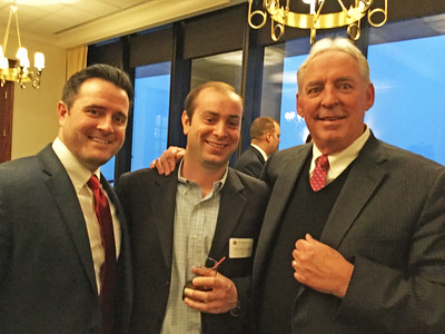 Brendan Mahoney '05, Donald McCarthy '05, and Kevin Driscoll '72, P'08