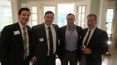 Daniel Cappello '01, Andrew Valentine '05, Stephen Driscoll '06, and Houie Baker '76
