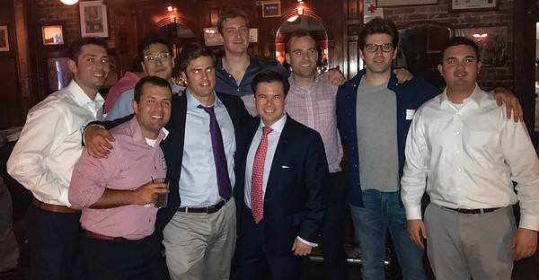 Front – Luke Archambault '04, Jason Torey '09, James Tang '03 Back – Patrick Miller '07, Sungbo Shim '07, Doug Beyer '08, Blaise Driscoll '08, Michael Driscoll '08, and Paul Severni '07