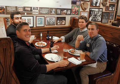 Dom DiAntonio '12, Mac Daly '11,  Harrison Wasserbauer '12, and Christian DiAntonio '15
