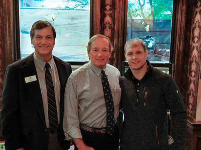 Tim Trautman '75, P'03, Skip Flanagan H'18, GP'16, '19, and Joe Colton '12