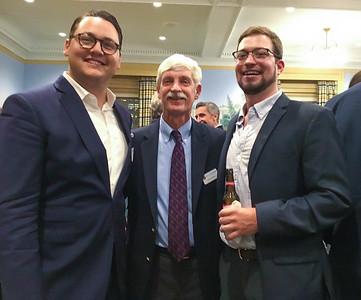 Flint Reilly '05, Peter Evans P'98, and Ian Lindahl '12