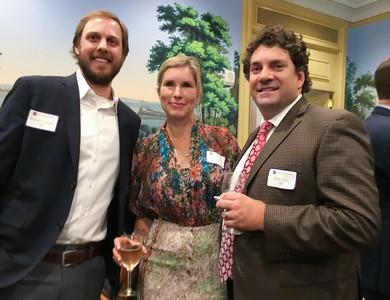 Andrew Corrigan '98, Kara Lech, and Mike Lech '88