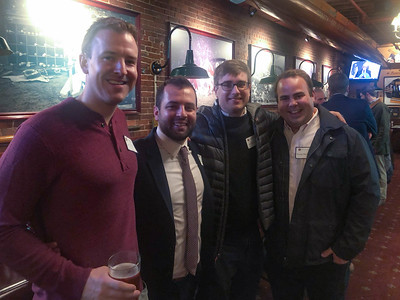 Chris Klein '03, Luke Archambault '04, Jack Bingham '06, and Morgan Barrieau '04