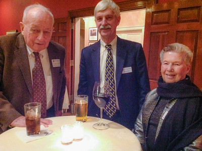 Gordon and Jocelyn Linke P '75, '78, '79, GP'16 with Peter Evans P'98