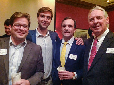Tom Mapes '07, Will Sieber '07, Sam Orr '05, and Kevin Driscoll '72, P'08