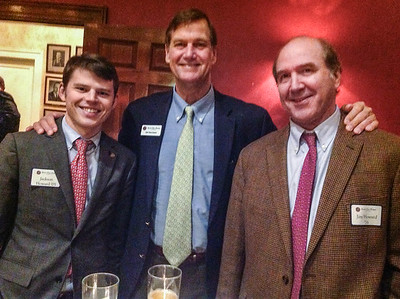 Jackson Howard '05, Tim Trautman '75, P'03, and Jim Howard '76