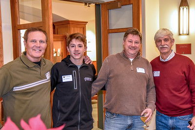 John Harker '80, Tyler Wishart, Todd Wishart, Peter Evans H'18, P'98