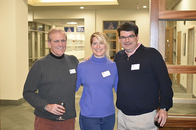 Henry Coons '71, P'07, Bridget Overcash P'18, and Tim Overcash P'18