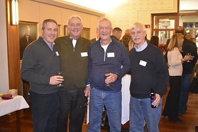Myles Keroack P'18, Kevin Driscoll '72, P'08, George Trautman P'75, '81, '82, GP'03, and Peter Evans P'98