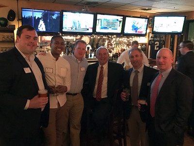 Pierce Ford '09, John Haspilaire '07, Brian O'Connor '87, Kevin Driscoll '72, P'08, and Jim Detora P'12