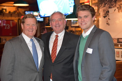 Bill Maag '81, Kevin Driscoll '72, P'08, and Harrison Wasserbauer '12