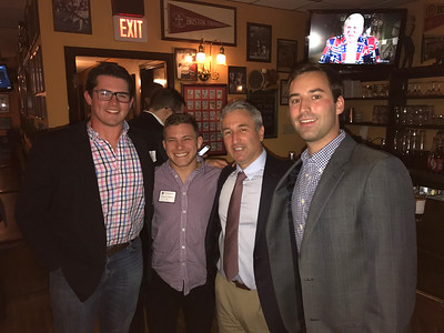 Harry Lyons '11, Vince DeBlasio '13, Jim Detora P'12, and Dave Barros '11