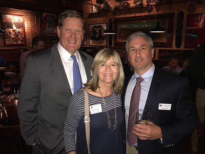 Bill Maag '81, Sue Evans P'98, and Jim Detora P'12