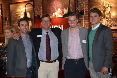 Dave Barros '11, Tim Trautman '75, P'03, Cooper O'Connor '11, and Harrison Wasserbauer '12
