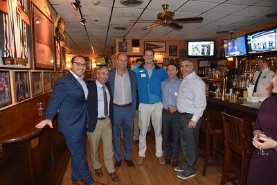 Matt Lauro '09, Jim Detora P'12, John Hartnett '95, Mook Lawrence '05, Brian Orr '04, and Josh Heller '98