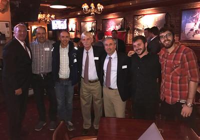Kevin Driscoll '72, P'08, Kevin McKernan '91, Brendan McKernan '89, Peter Evans P'98, Jim Detora P'12, Guiseppe Mellon-Reese '14, and Ben Spanbock '14