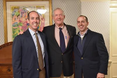 Dan Harrop '88, George Trautman, and John McAuliffe '95