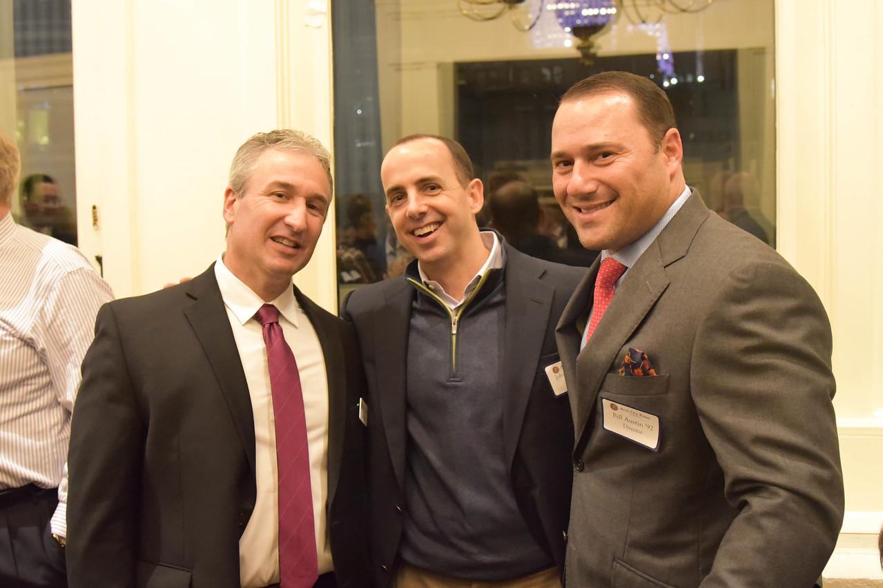 Jim Detora P'12, John McAulliffe '95, and Bill Austin '92