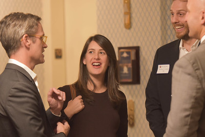 Chris Stone '88, Amanda Slaughter and Andrew Corrigan '98