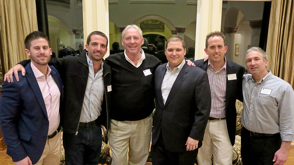 Jordan Truppman '11, Ryan Matalon '04, Kevin Driscoll '72, P'08, Matt Murray '98,  Daniel Matalon '00 and Jim Detora P'12