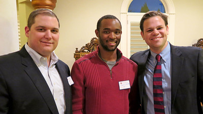 Matt Murray '98, National Council Member Derrick Barker '06, and Peter Theis '06