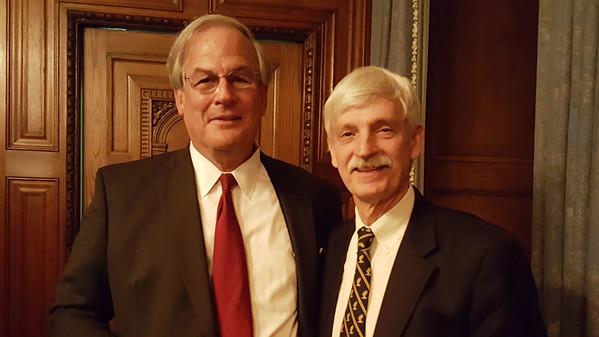 Brian Mullins '68 and Peter Evans P'98