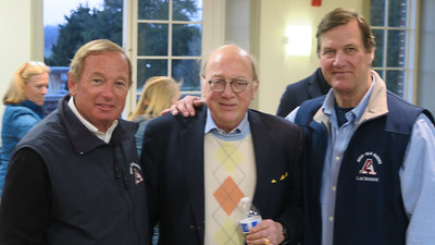 Head Coach Skip Flanagan GP'16, '19,  Rusty Avery '67 and Tim Trautman '75, P'03