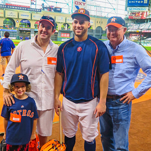 Jack Sperry, Austin Sperry '96, George Springer '08 and Brooks Sperry P'96