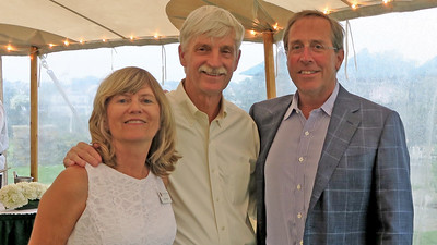 Sue Evans P'98, Peter Evans P'98, and David Jarvis P'17
