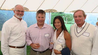 Ken LaRocque P'01, '10, Brett Jefferson '84, Cathy Jefferson, and Skip Flanagan GP'16, '19