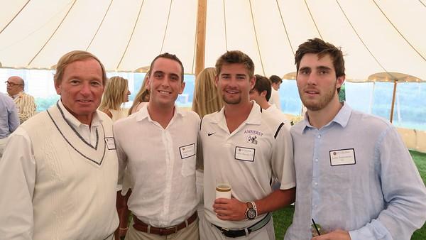 Skip Flanagan GP'16, '19, Jack Burke '12, Collin Rissolo '15, and Justin Imperatore '15