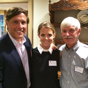 Robin Brown '91, Caroline Brown, and Peter Evans P'98