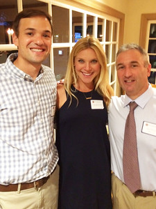 Sam Cole '04, Heather Cole P'04, and Jim Detora P'12