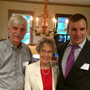 Peter Evans P'98, Jeanette Keim, and Spencer Beal '95