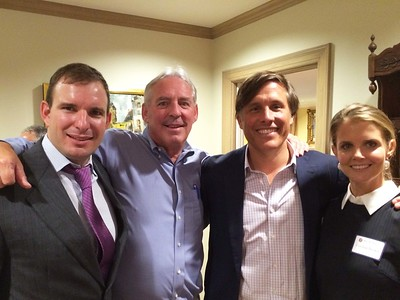 Spencer Beal '95, Kevin Driscoll '72, P'08, Robin Brown '91, and Caroline Brown