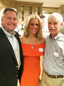 Jordan Jayson '94, Jillian Jayson, and Peter Evans P'98