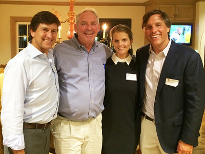 Mark Masinter '82, Kevin Driscoll '72, P'08, Caroline Brown, and Robin Brown '91