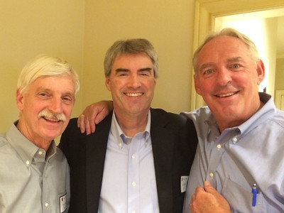 Peter Evans P'98, Thomas Davey '80, and Kevin Driscoll '72, P'08