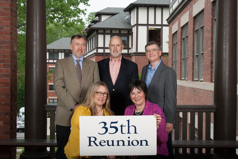 35th - Class of 1981<br /> 1st Row: Leslie McCullough Casse, Emilia Prokhov Phillips, <br /> 2nd Row: Tad DeBerry, Sidney Wike, Marc Mankins