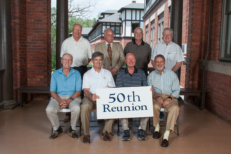 Class of 1967 - (first row) Bill McPherson, Bob Ives, Durwood Laughinghouse, Stephen Salley; (second row) Bill Hagna, Cliff Feingold, Howard Hunt, Jon Slocum