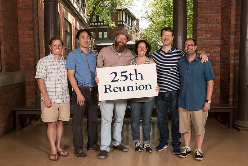 "Class of 1992 - Ward Griffin, Hoang ""Jason"" Dang, Josh Cannon, Margaret Salisbury Call, Richard DuBose, Gavin Bernstein"