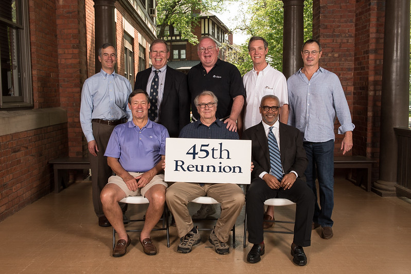 Class of 1972 - (first row) Vic Mitchener, Jeff Cobb, Greg Morris; (second row) Tom Cone, Walter Cox, Sim Cross, Mark Strange, Marshall Bassett