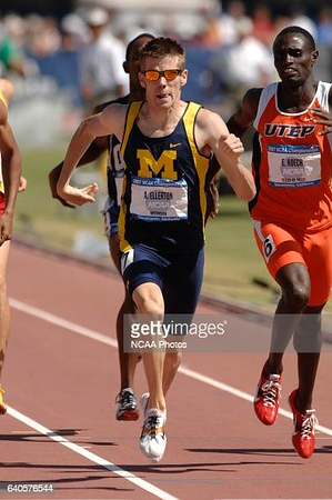 09 JUNE 2007: Andrew Ellerton of Michigan leads the field of runners in the men's 800-meter race during the Division I Men's and Women's Track and Field Championship held at the Alex G. Spanos Sports Complex in Sacramento, CA. Ellerton won the race with a tim of 1:47.48. Stephen Nowland/NCAA Photos via Getty Images.