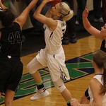 Maddie Williams layup for Big Bend Community College in 2016