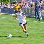 Rachel Bingham on the soccer pitch at BYU