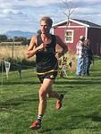 Ryan Williams running in Cross Country Fall of 2017
