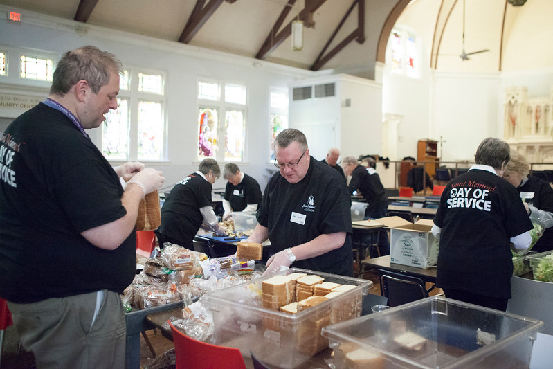 Saint Meinrad Day of Service at the St. Vincent de Paul Open Hands Kitchen in Louisville on March 11, 2017.